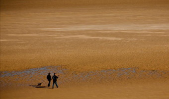 Dick Townend - Northumberland beach walkers.