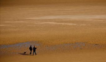 Northumberland beach walkers.