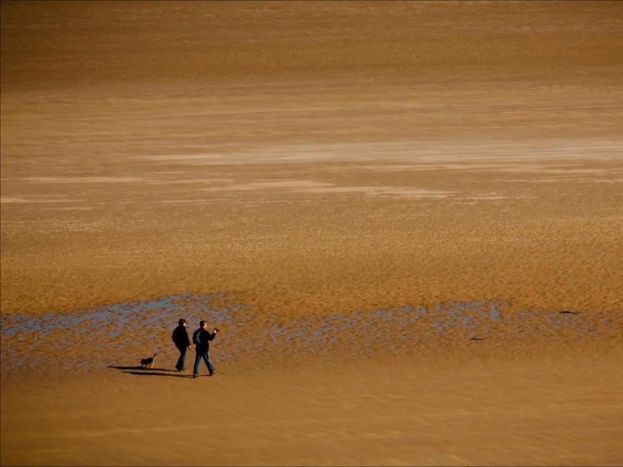 Dick Townend - Northumberland beach walkers.