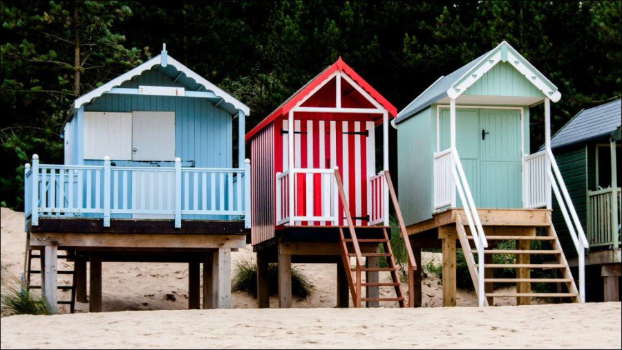 Dick Townend - Wells Beach Huts.