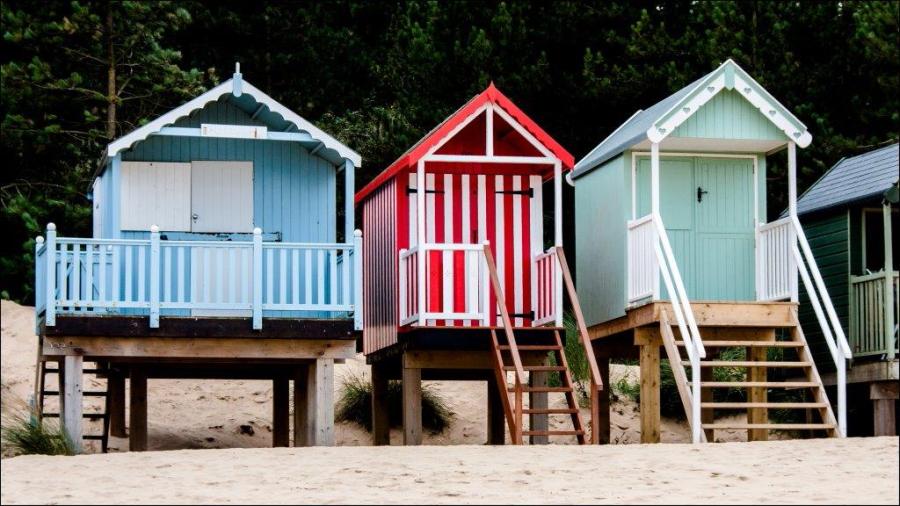 Dick Townend - Wells Beach Huts.