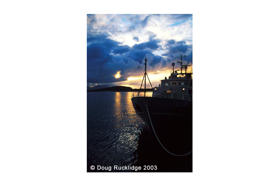 Doug Rucklidge - Evening in Oben Harbour