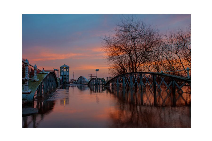John Boyd - Dawn breaking over Cawood Bridge