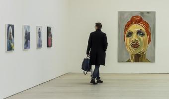 The man in the gallery by Sadie Nicholls